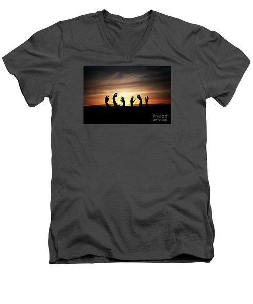 Zombie Apocalypse Men's V-Neck T-Shirt