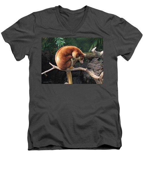 Zoo Animal Men's V-Neck T-Shirt by Suhas Tavkar
