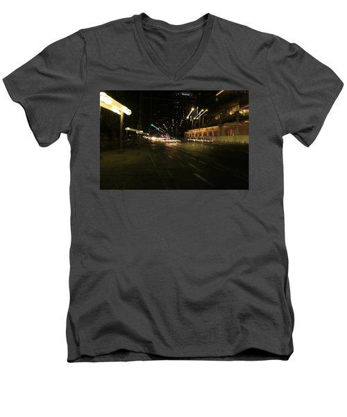Zooming Tel Aviv Road. Men's V-Neck T-Shirt