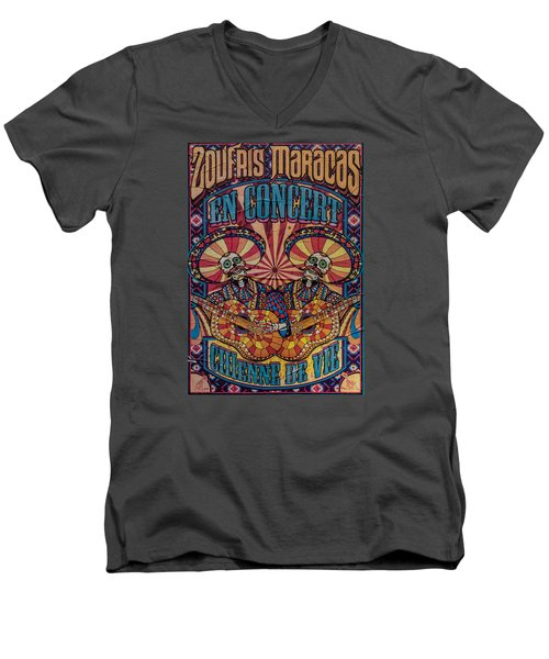 Zoufris Maracas Poster Men's V-Neck T-Shirt