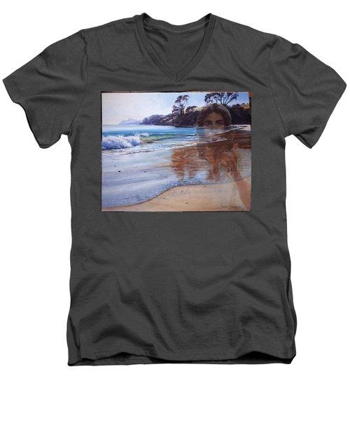 000068 Men's V-Neck T-Shirt