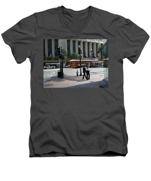 010219 Canal St Men's V-Neck T-Shirt