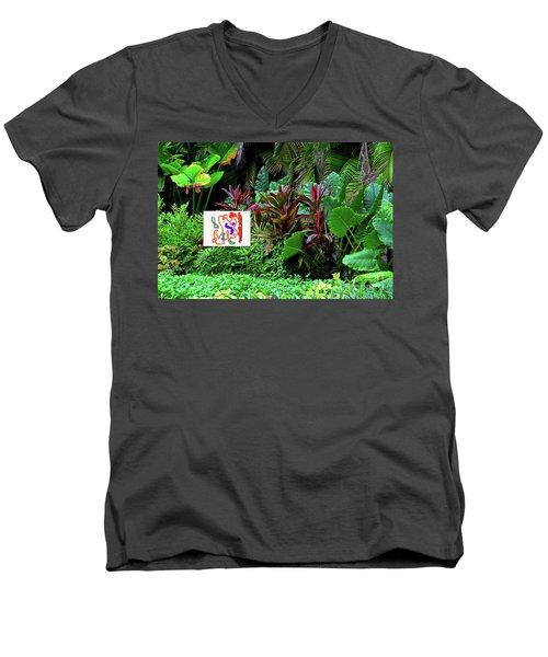 1-2-2019b Men's V-Neck T-Shirt