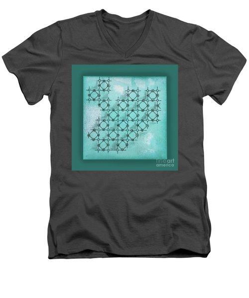 Abstract Biological Illustration Men's V-Neck T-Shirt