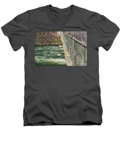 Augusta Canal Headgates - Augusta Ga Men's V-Neck T-Shirt