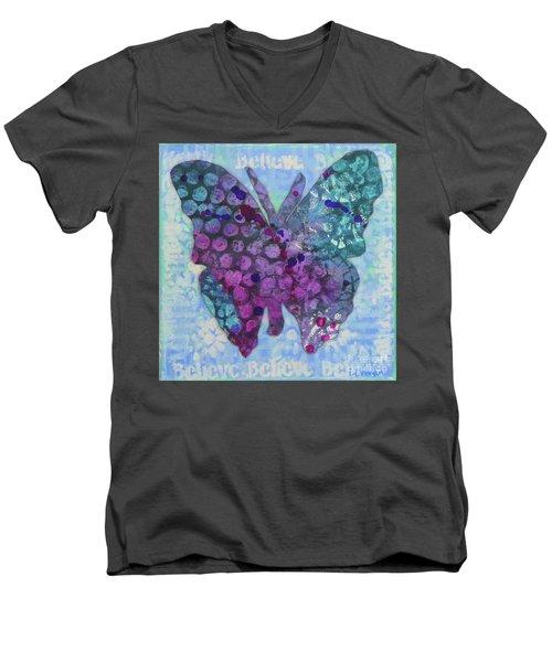 Believe Butterfly Men's V-Neck T-Shirt