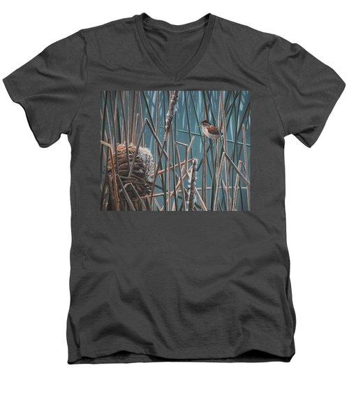 Cattail Hideaway Men's V-Neck T-Shirt