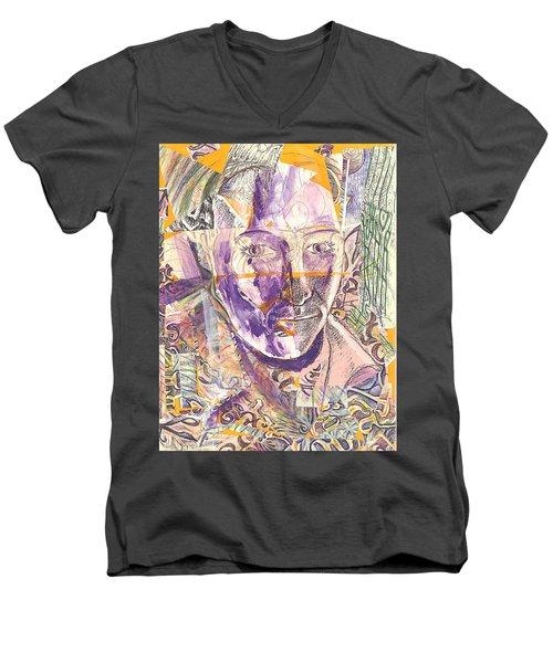 Cut Portrait Men's V-Neck T-Shirt