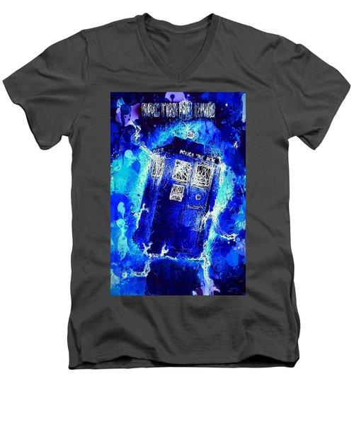 Doctor Who Tardis Men's V-Neck T-Shirt