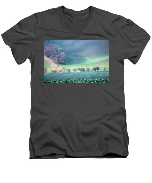 Autumn In South Moravia 1 Men's V-Neck T-Shirt