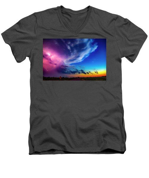 Epic Nebraska Lightning 007 Men's V-Neck T-Shirt