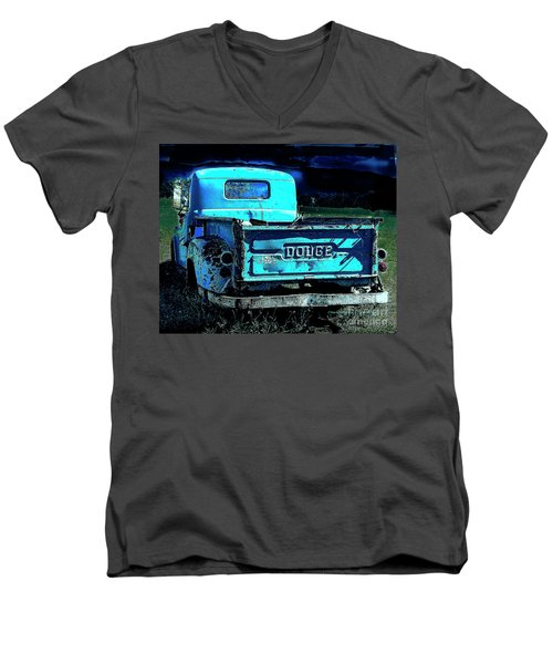Green Dodge Men's V-Neck T-Shirt