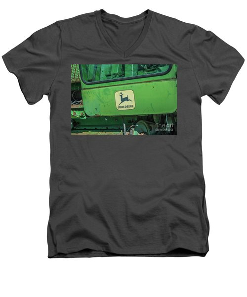 John Deere Men's V-Neck T-Shirt