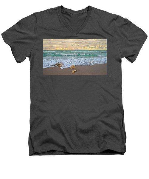 Jupiter Beach Men's V-Neck T-Shirt