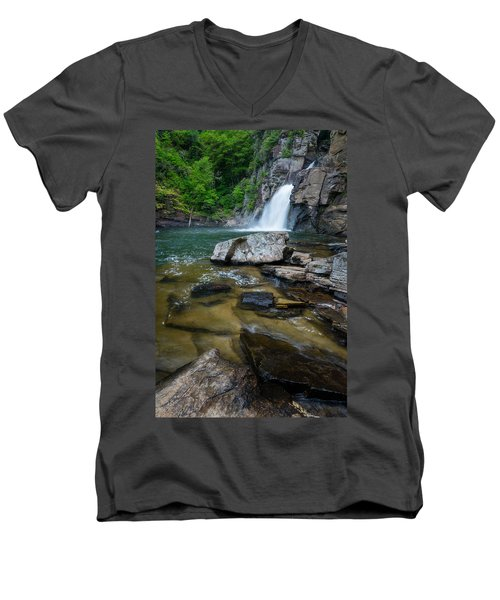 Linville Gorge - Waterfall Men's V-Neck T-Shirt