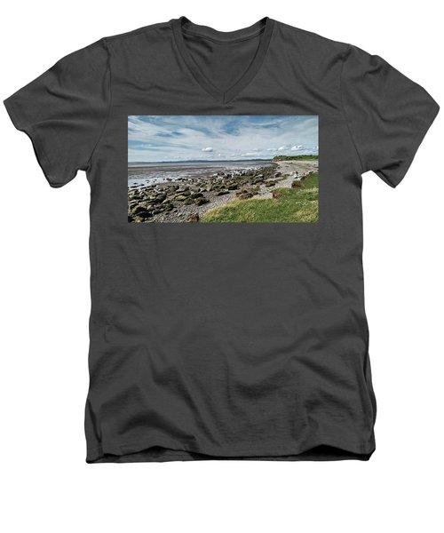 Morecambe. Hest Bank. The Shoreline. Men's V-Neck T-Shirt