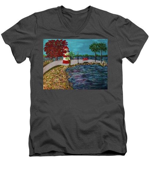 Mount Dora Lighthouse Men's V-Neck T-Shirt