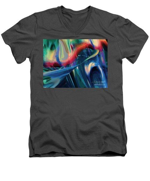 On My Way Men's V-Neck T-Shirt