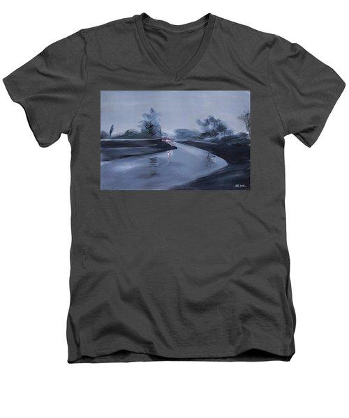 Rainy Day New Men's V-Neck T-Shirt