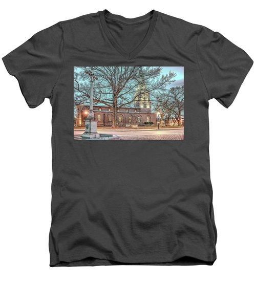 Saint Annes Circle With Fountain Men's V-Neck T-Shirt