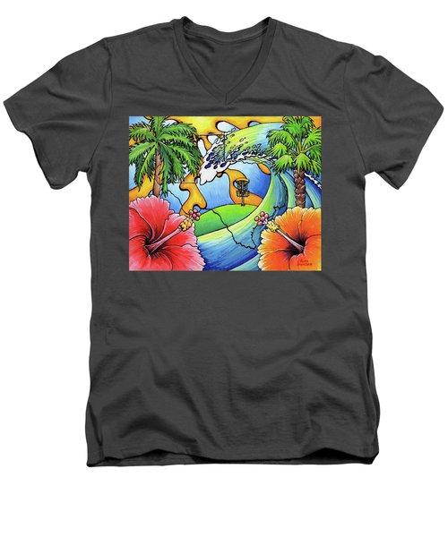 South Texas Disc Golf Men's V-Neck T-Shirt