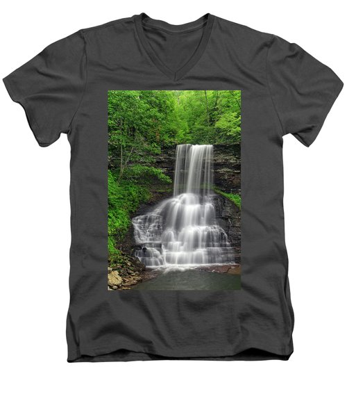 Summer Cascades Men's V-Neck T-Shirt