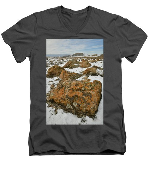 The Many Colors Of The Book Cliffs Men's V-Neck T-Shirt