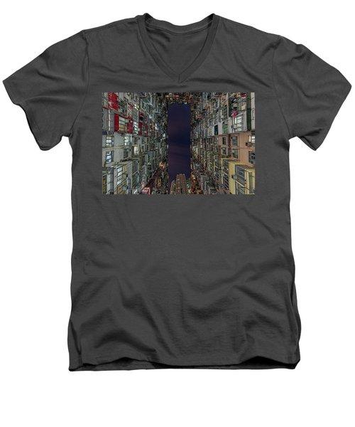 The Montane Mansion Men's V-Neck T-Shirt