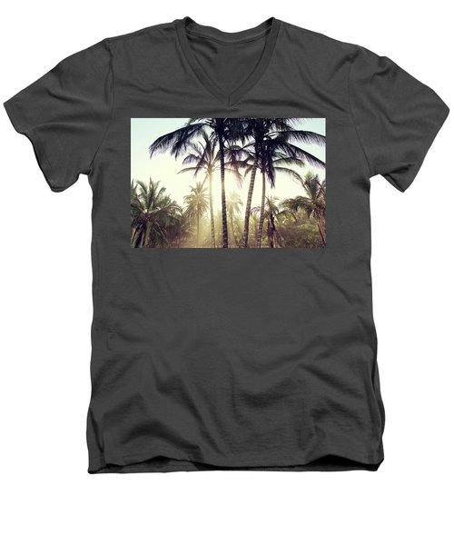 Ticla Palms Men's V-Neck T-Shirt