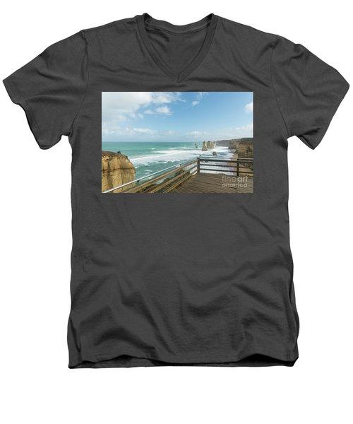 Twelve Apostles Sea Rocks Men's V-Neck T-Shirt