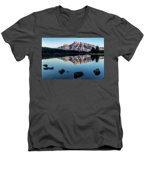 Two Jack Lake, Banff National Park, Alberta, Canada Men's V-Neck T-Shirt