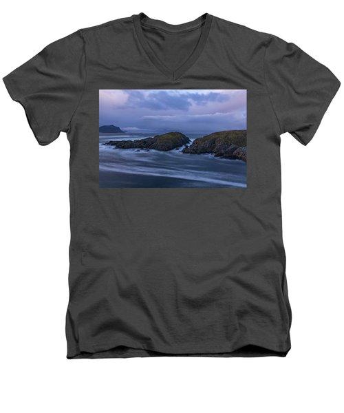 Waves At The Shore Men's V-Neck T-Shirt