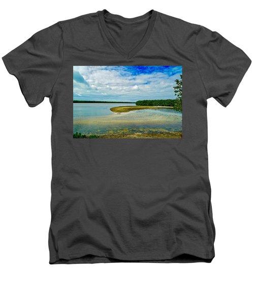 Wildlife Refuge On Sanibel Island Men's V-Neck T-Shirt