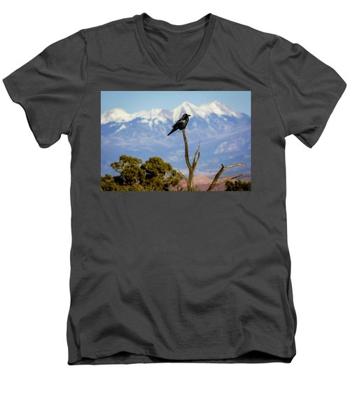 Men's V-Neck T-Shirt featuring the photograph Winter Is Coming by David Morefield