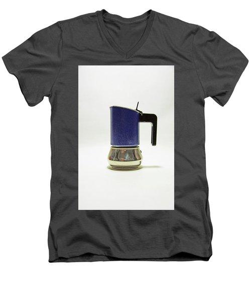 10-05-19 Studio. Blue Cafetiere Men's V-Neck T-Shirt