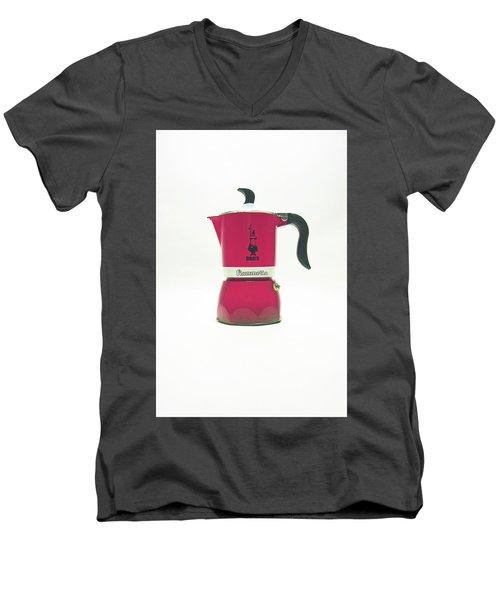 10-05-19 Studio. Red Cafetiere. Men's V-Neck T-Shirt