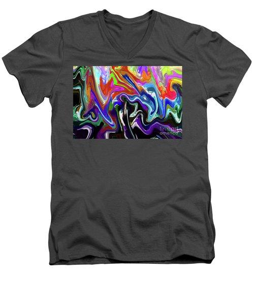 10-1-2008abcdefghij Men's V-Neck T-Shirt