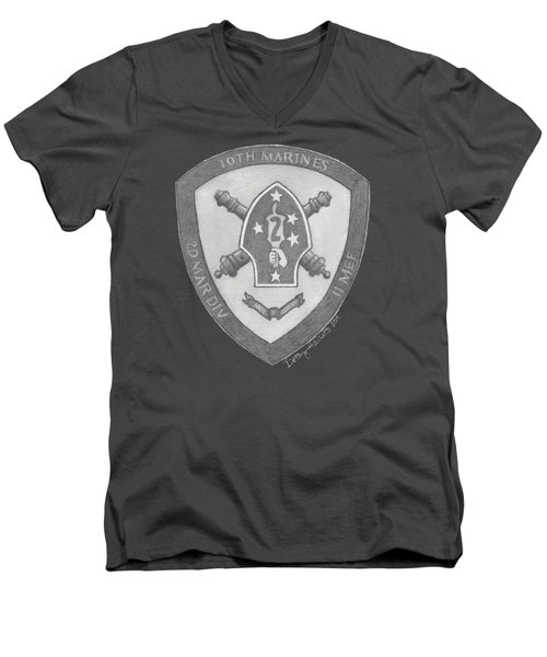 10th Marines Crest Men's V-Neck T-Shirt