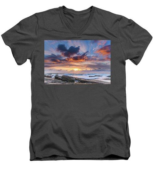 An Atmospheric Sunrise Seascape Men's V-Neck T-Shirt