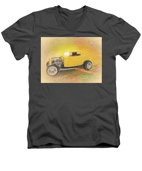 1932 Ford Coupe Yellow Men's V-Neck T-Shirt