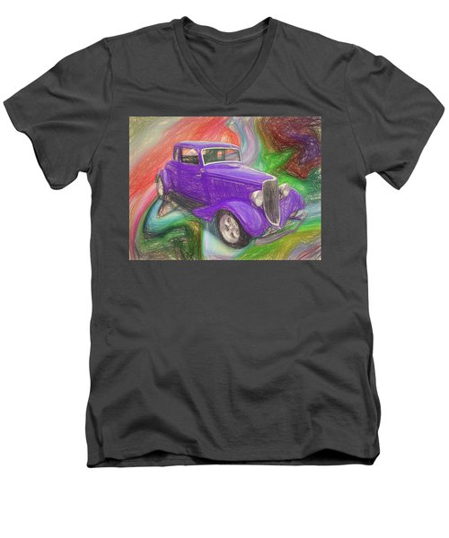 1934 Ford Colored Pencil Men's V-Neck T-Shirt