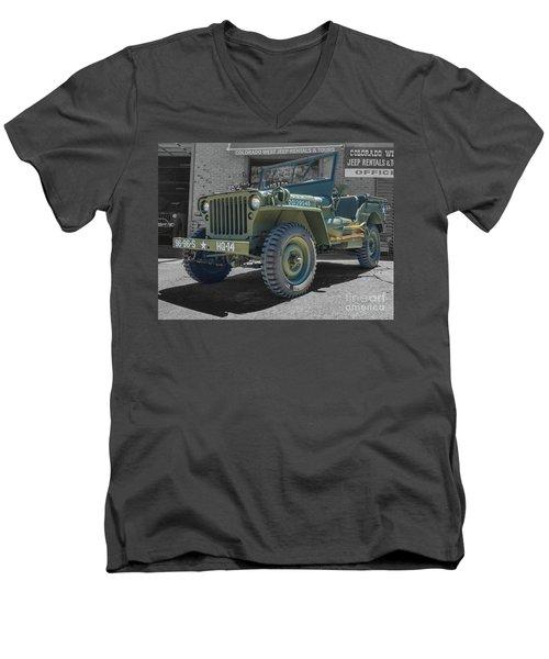 1942 Willys Gpw Men's V-Neck T-Shirt