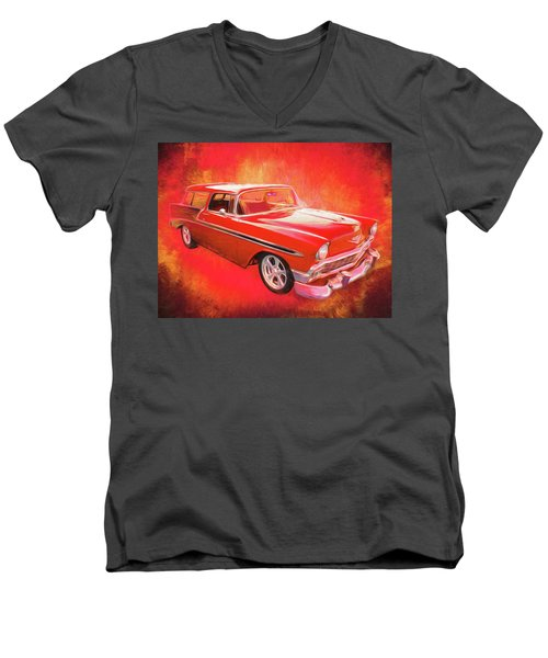 1956 Chevy Nomad Men's V-Neck T-Shirt