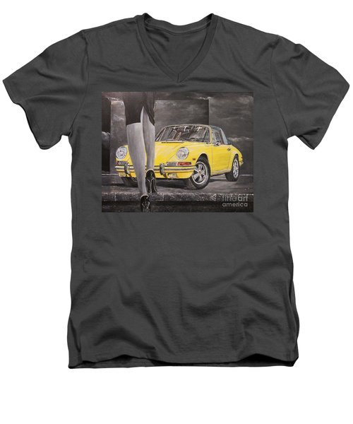 1968 Porsche 911 Targa Men's V-Neck T-Shirt