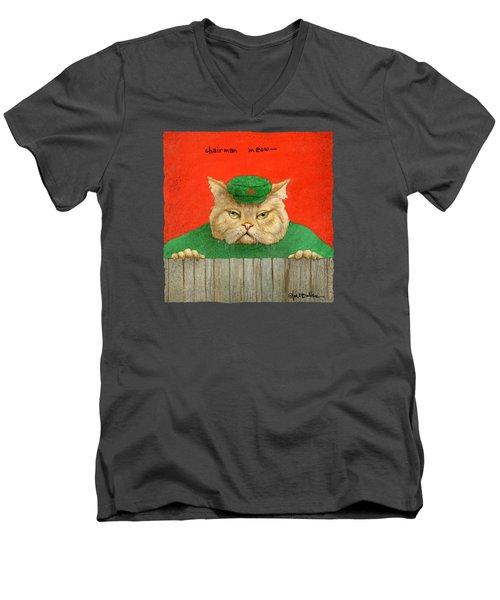 Chairman Meow... Men's V-Neck T-Shirt