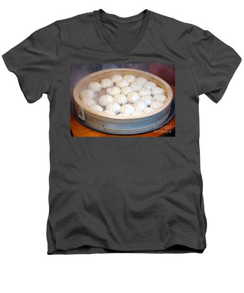 Chinese Steamed Buns Men's V-Neck T-Shirt