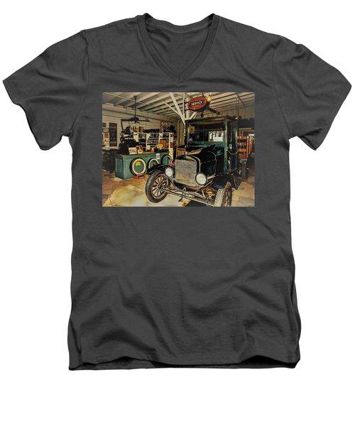 My Garage Men's V-Neck T-Shirt