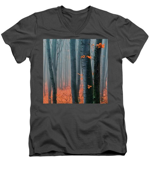 Orange Wood Men's V-Neck T-Shirt