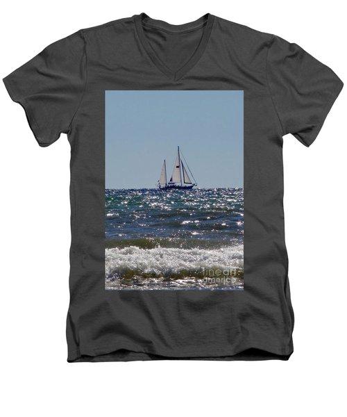 Sailboat  Men's V-Neck T-Shirt