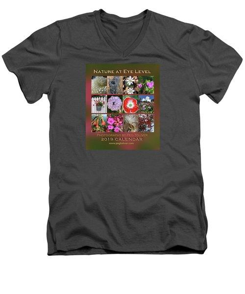 2019 Nature Calendar Men's V-Neck T-Shirt